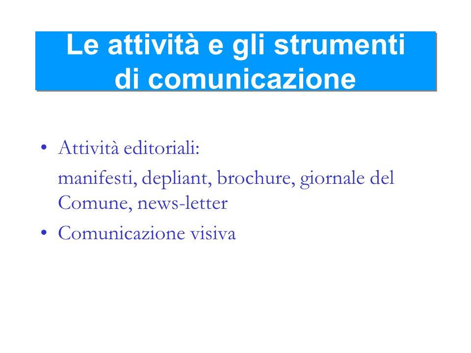 Le attività e gli strumenti di comunicazione