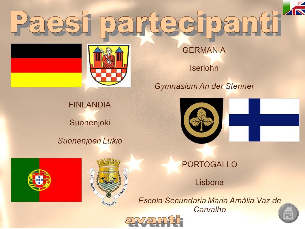 Paesi partecipanti avanti GERMANIA Iserlohn Gymnasium An der Stenner