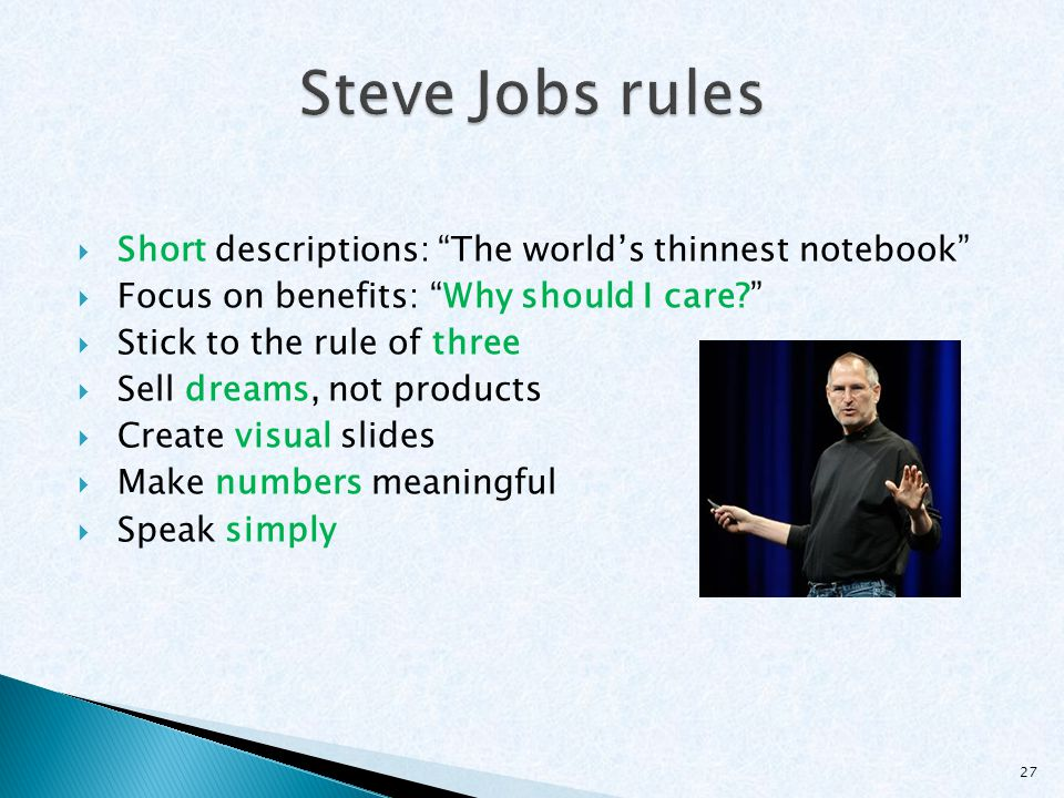 Steve Jobs rules Short descriptions: The world's thinnest notebook