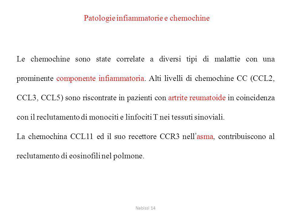 Patologie infiammatorie e chemochine