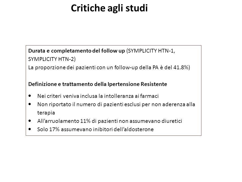 Critiche agli studi