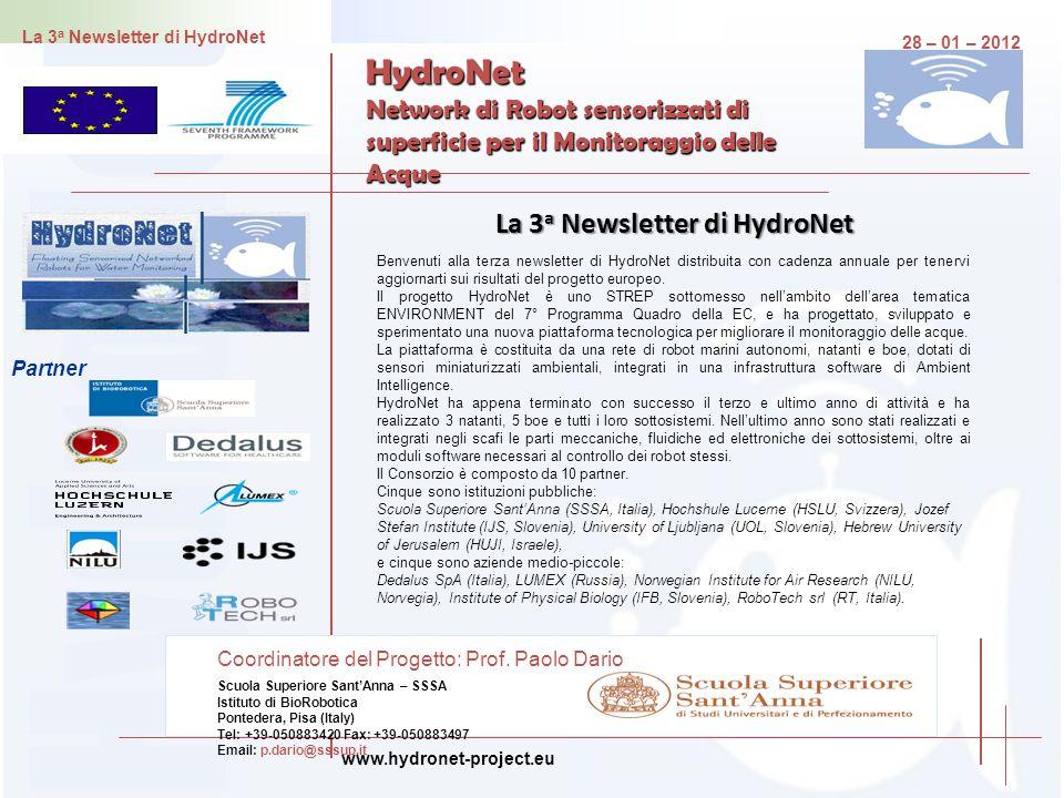 La 3a Newsletter di HydroNet