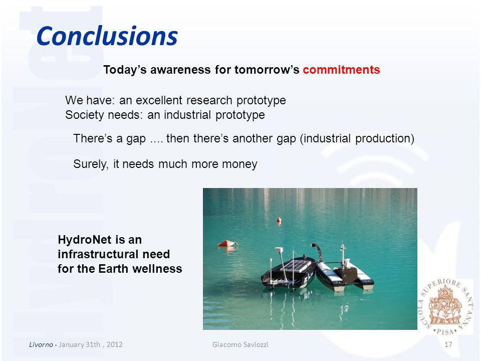 Conclusions Today's awareness for tomorrow's commitments