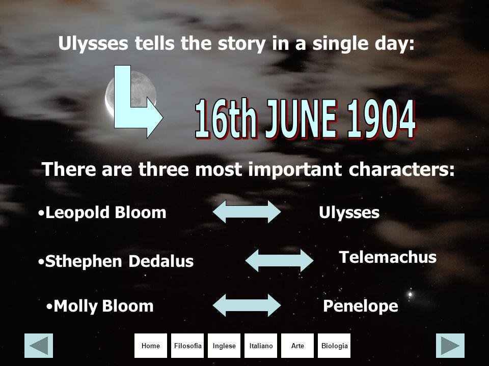 16th JUNE 1904 Ulysses tells the story in a single day: