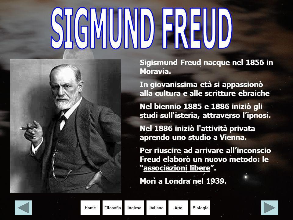 SIGMUND FREUD Sigismund Freud nacque nel 1856 in Moravia.