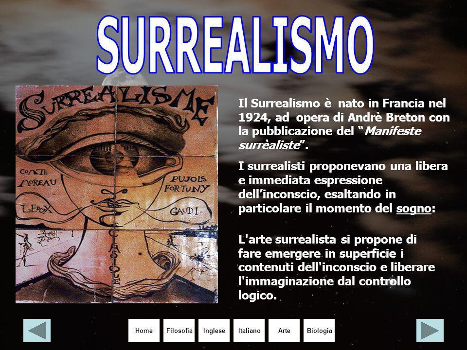 SURREALISMO Il Surrealismo è nato in Francia nel 1924, ad opera di Andrè Breton con la pubblicazione del Manifeste surrèaliste .