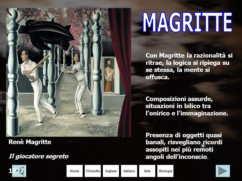 MAGRITTE Con Magritte la razionalità si ritrae, la logica si ripiega su se stessa, la mente si offusca.