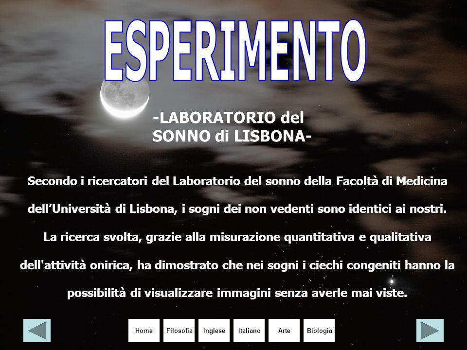 ESPERIMENTO -LABORATORIO del SONNO di LISBONA-