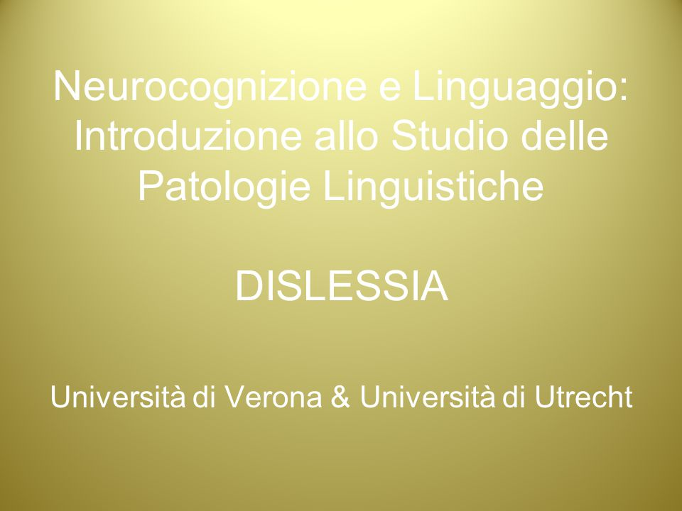 Università di Verona & Università di Utrecht
