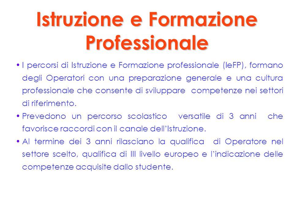 Istruzione e Formazione Professionale