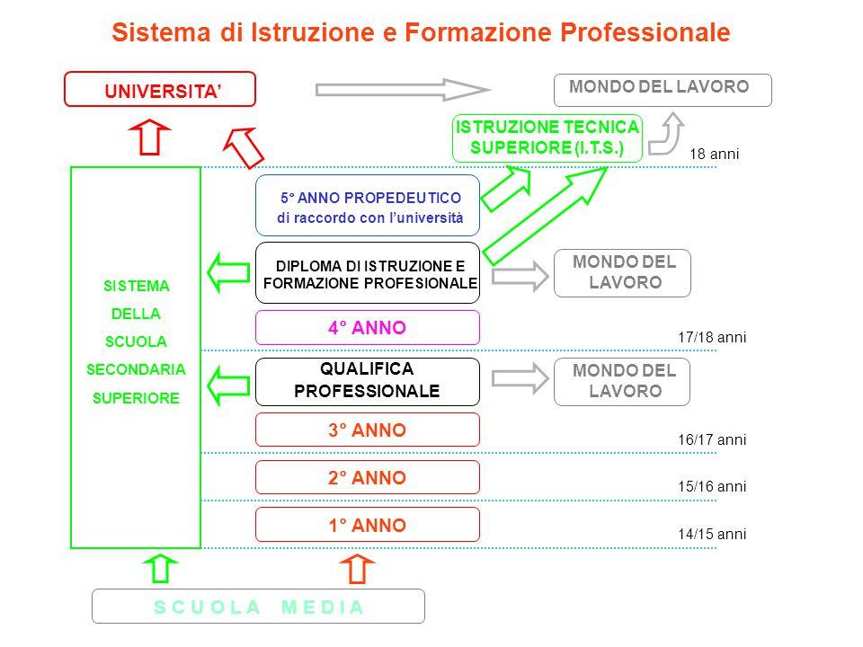 Sistema di Istruzione e Formazione Professionale