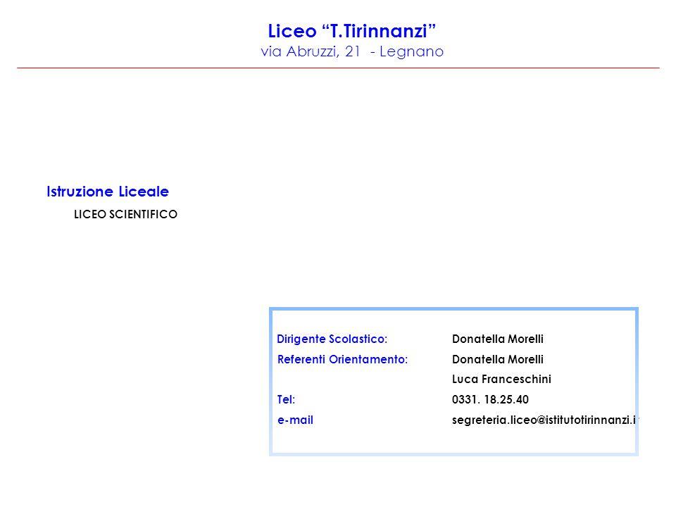 Liceo T.Tirinnanzi via Abruzzi, 21 - Legnano