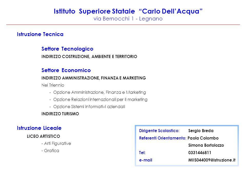 Istituto Superiore Statale Carlo Dell'Acqua via Bernocchi 1 - Legnano