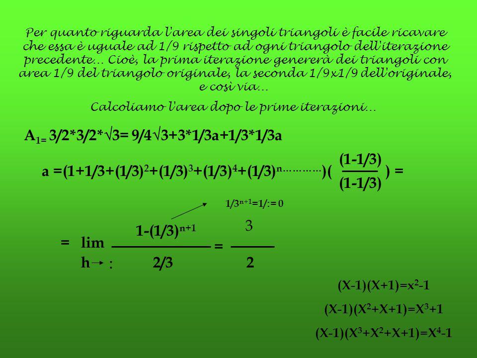 a =(1+1/3+(1/3)2+(1/3)3+(1/3)4+(1/3)n…………)( ) =