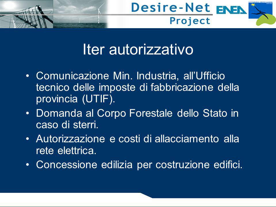 Iter autorizzativo Comunicazione Min. Industria, all'Ufficio tecnico delle imposte di fabbricazione della provincia (UTIF).