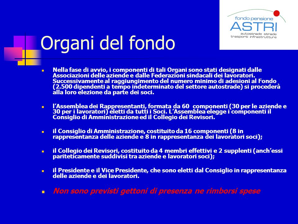Organi del fondo