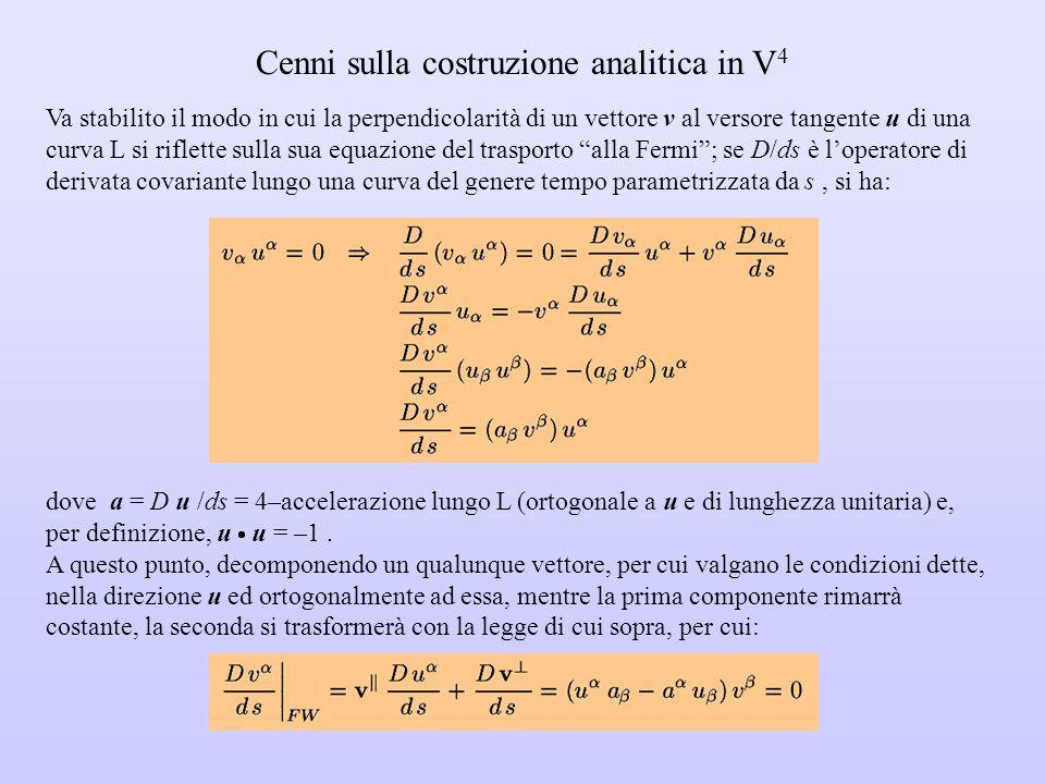 Cenni sulla costruzione analitica in V4