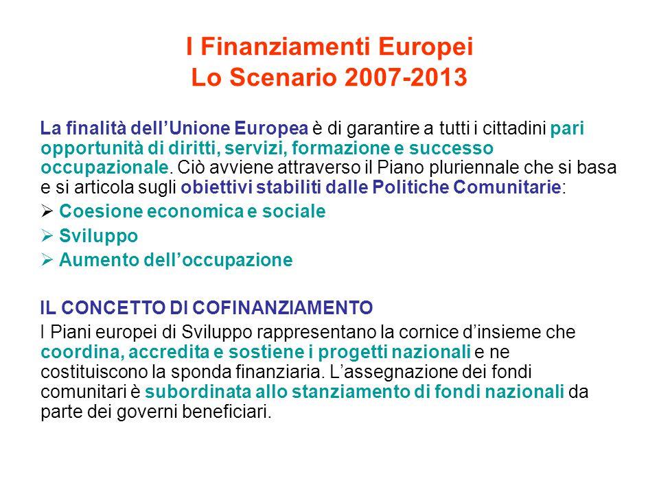 I Finanziamenti Europei Lo Scenario 2007-2013
