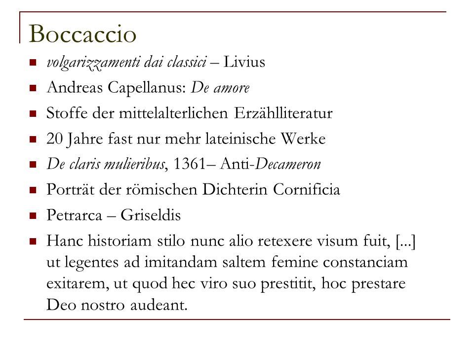 Boccaccio volgarizzamenti dai classici – Livius