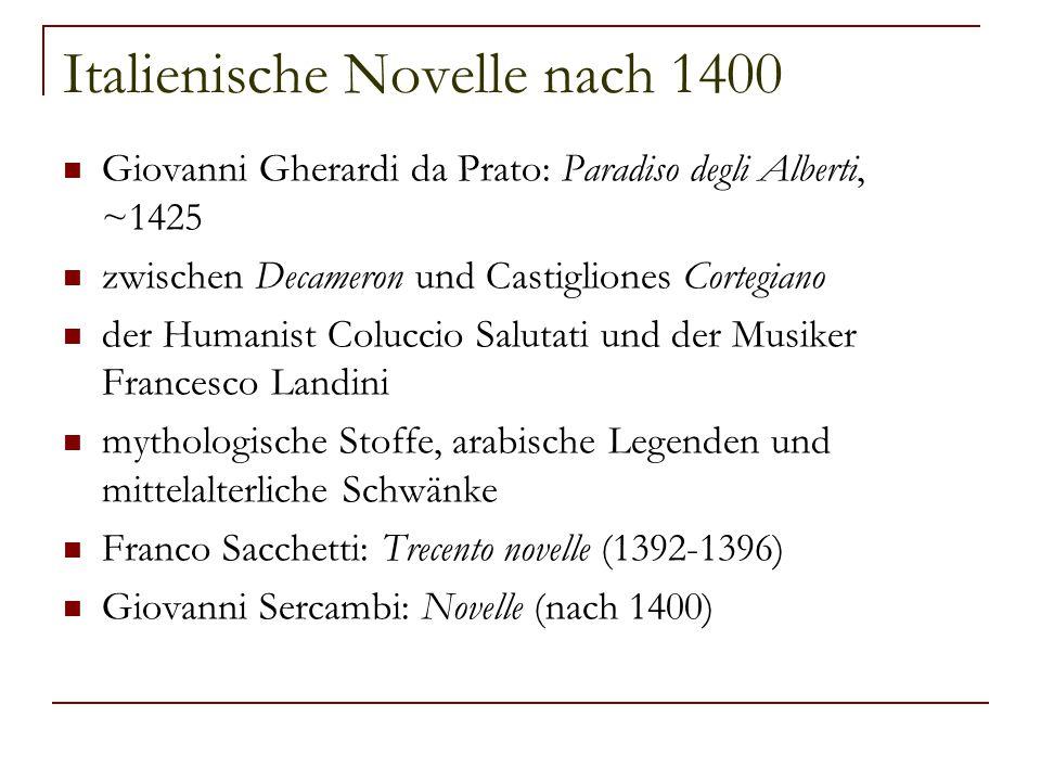 Italienische Novelle nach 1400