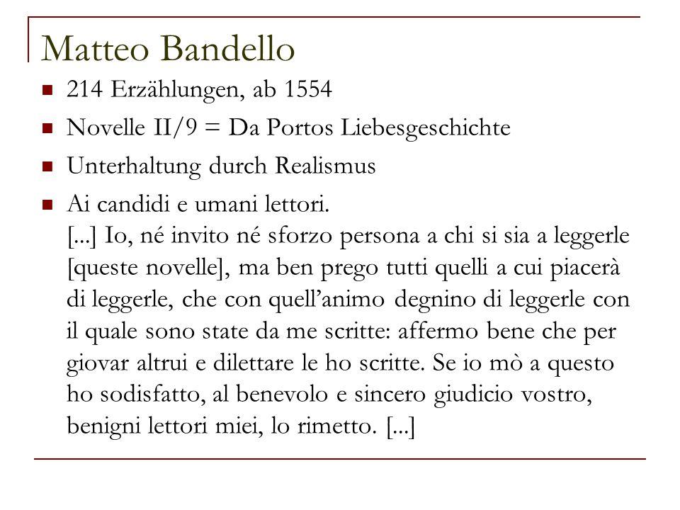 Matteo Bandello 214 Erzählungen, ab 1554
