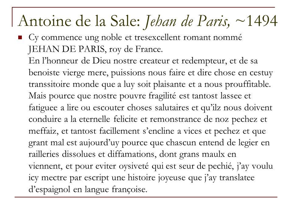 Antoine de la Sale: Jehan de Paris, ~1494