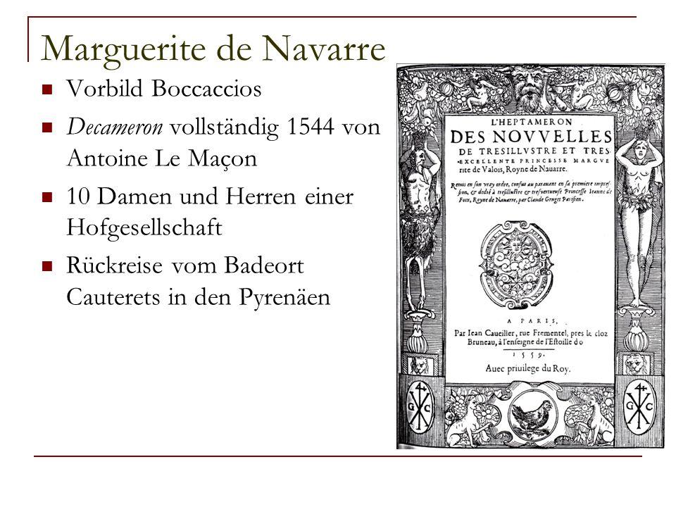 Marguerite de Navarre Vorbild Boccaccios