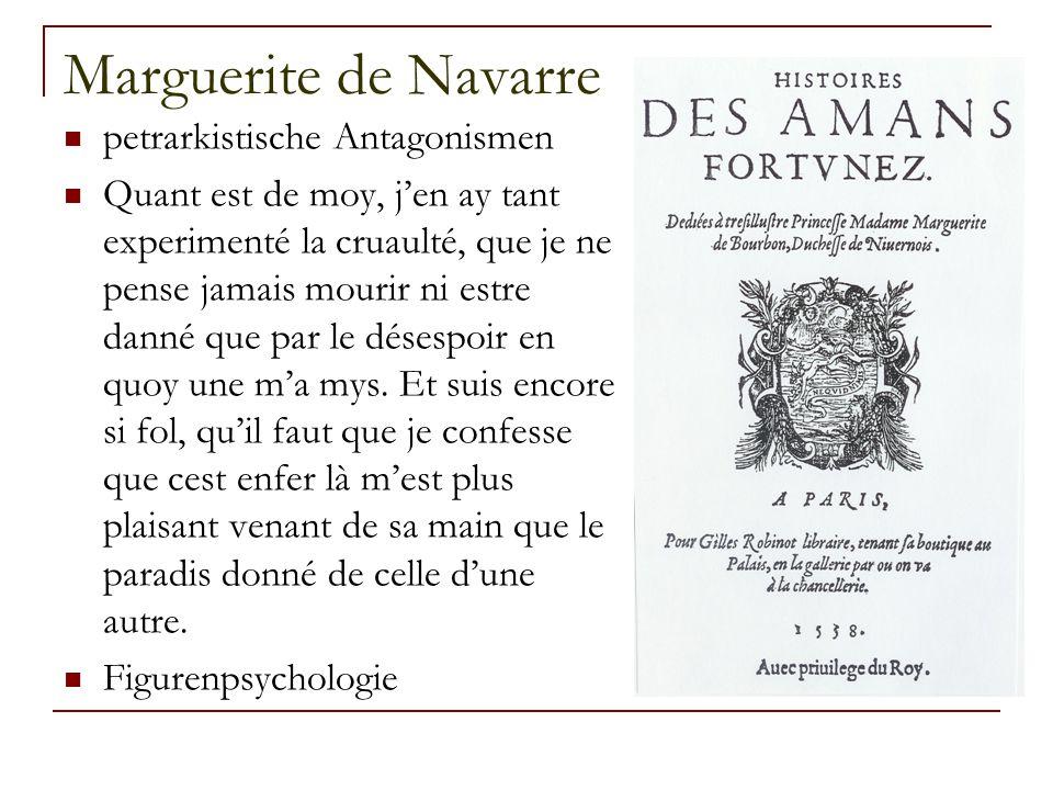 Marguerite de Navarre petrarkistische Antagonismen
