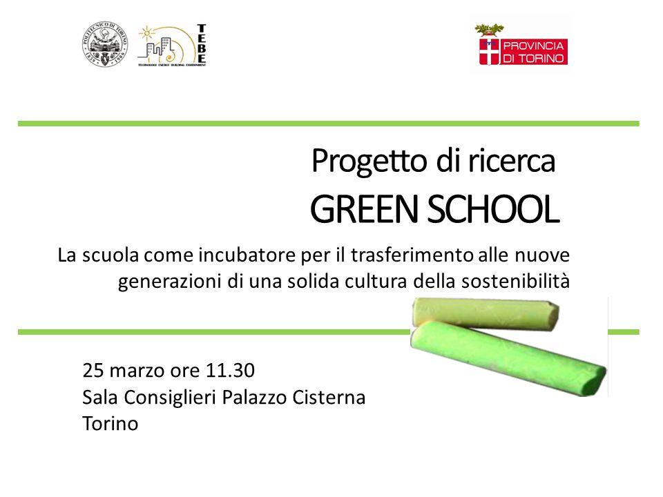 GREEN SCHOOL Progetto di ricerca