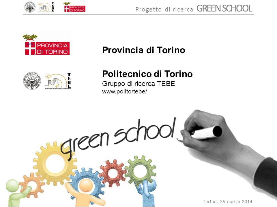 Provincia di Torino Politecnico di Torino Gruppo di ricerca TEBE