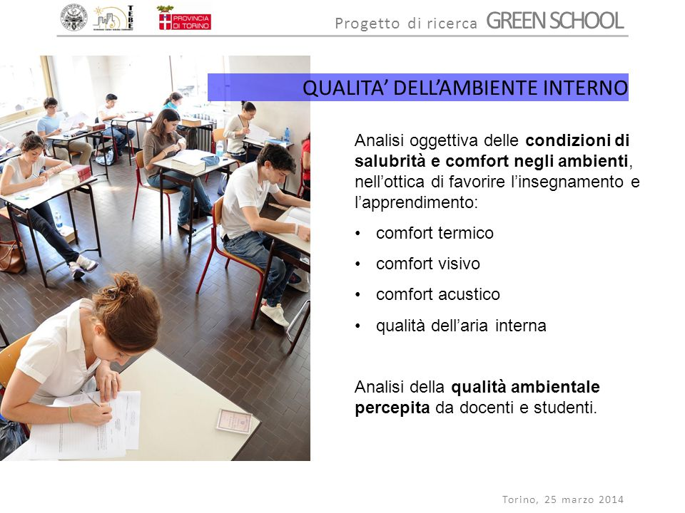 QUALITA' DELL'AMBIENTE INTERNO