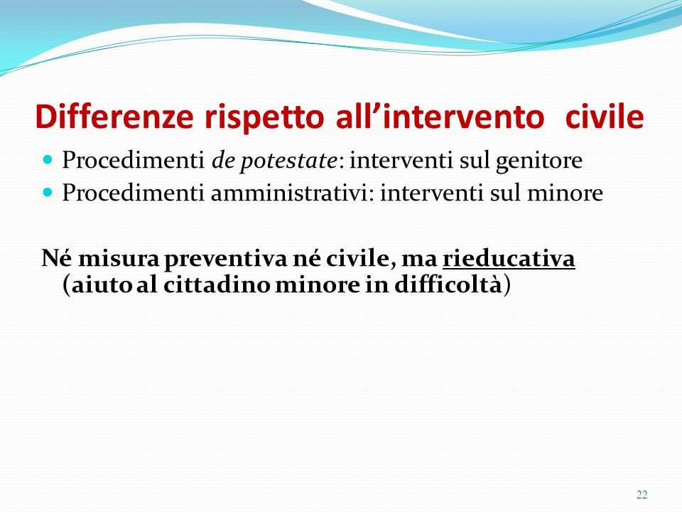 Differenze rispetto all'intervento civile