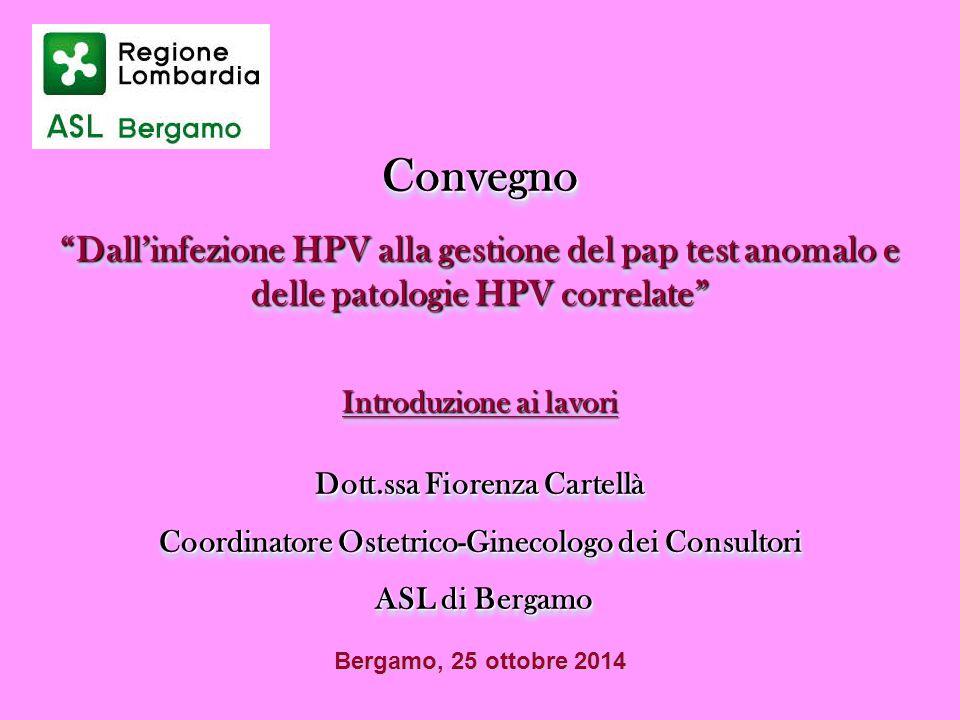 Convegno Dall'infezione HPV alla gestione del pap test anomalo e delle patologie HPV correlate Introduzione ai lavori.