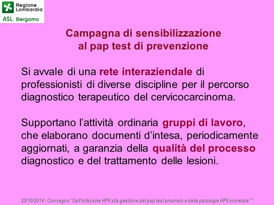 Campagna di sensibilizzazione al pap test di prevenzione