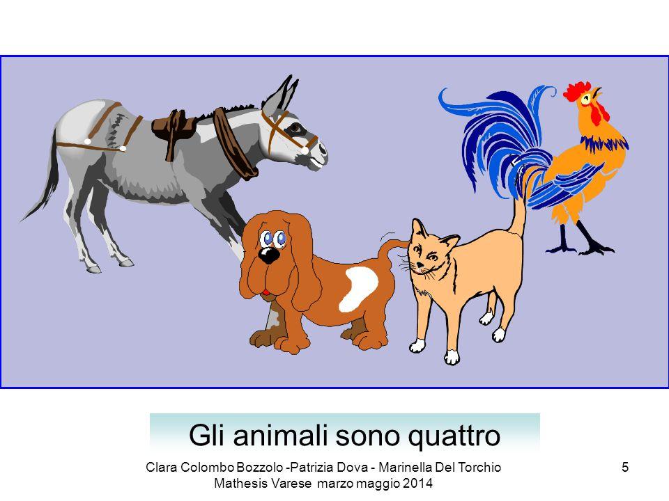 Gli animali sono quattro
