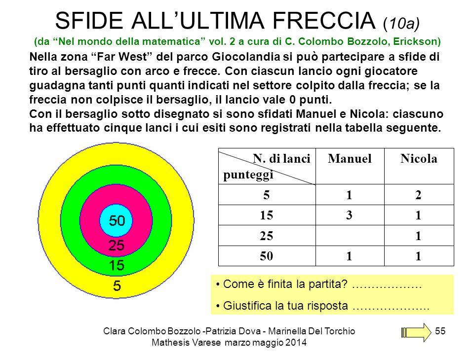 SFIDE ALL'ULTIMA FRECCIA (10a) (da Nel mondo della matematica vol
