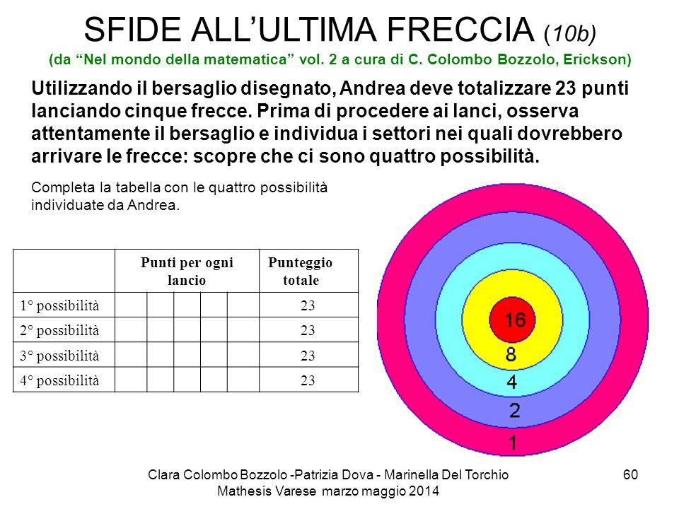 SFIDE ALL'ULTIMA FRECCIA (10b) (da Nel mondo della matematica vol