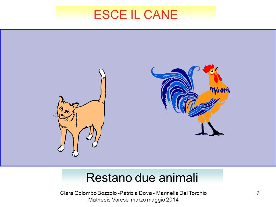 ESCE IL CANE Restano due animali