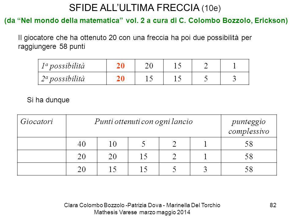 SFIDE ALL'ULTIMA FRECCIA (10e)