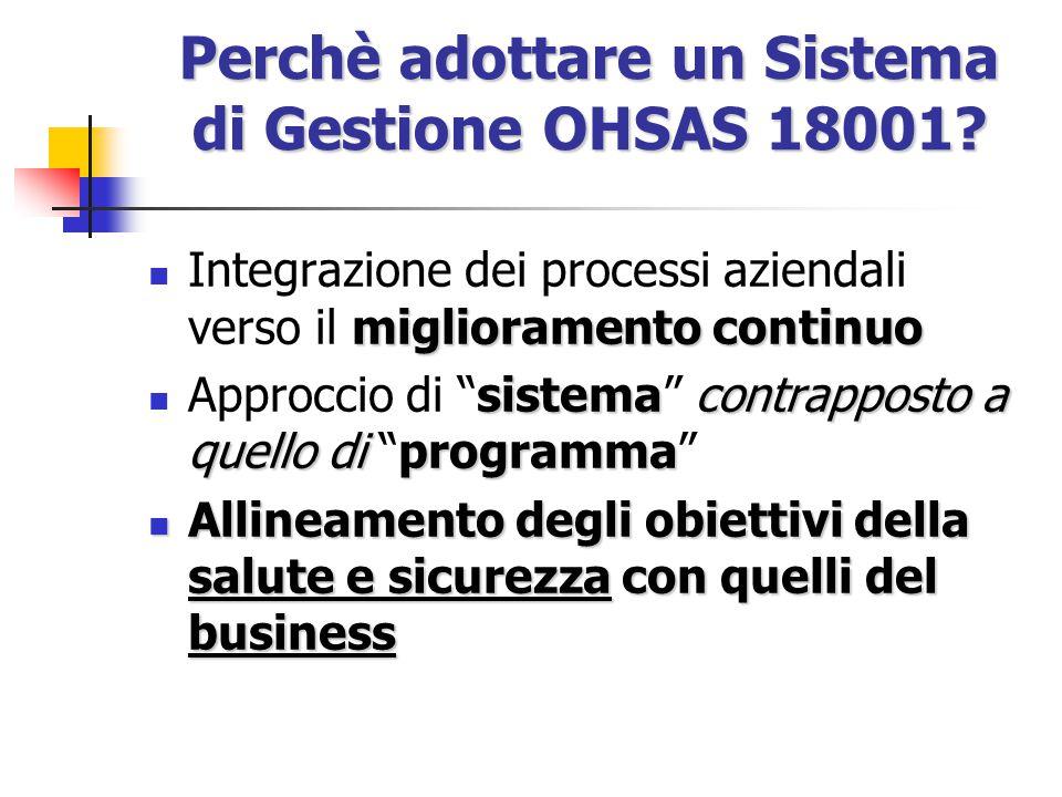 Perchè adottare un Sistema di Gestione OHSAS 18001