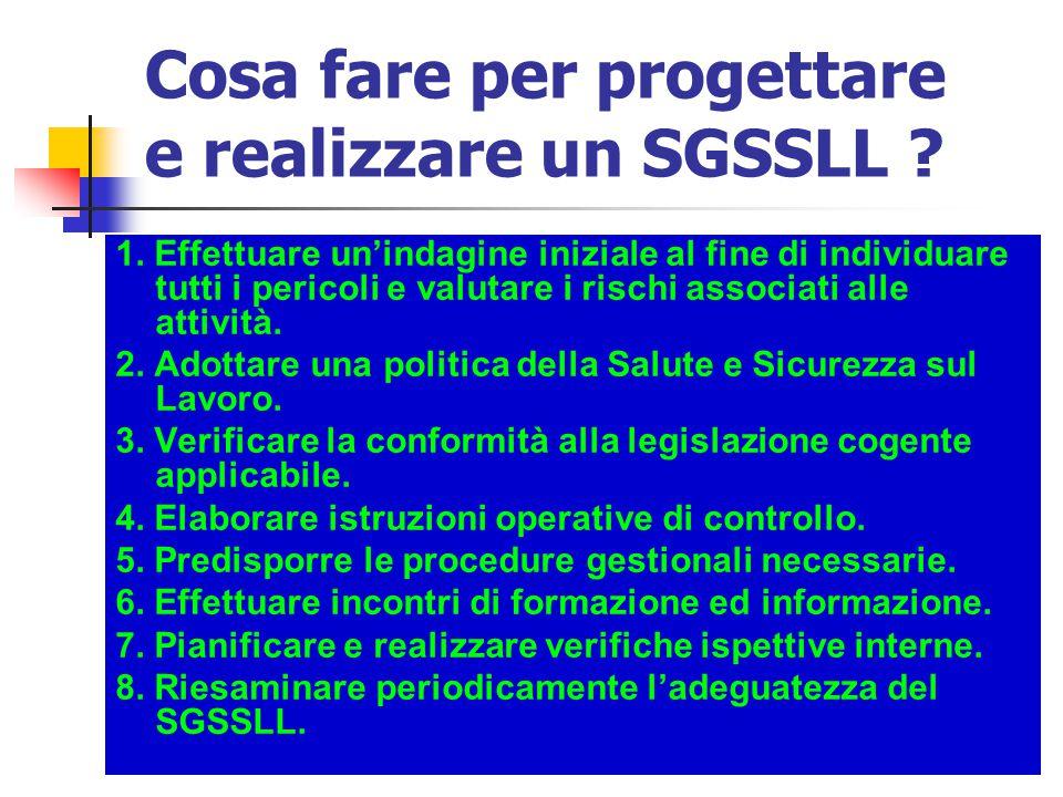 Cosa fare per progettare e realizzare un SGSSLL