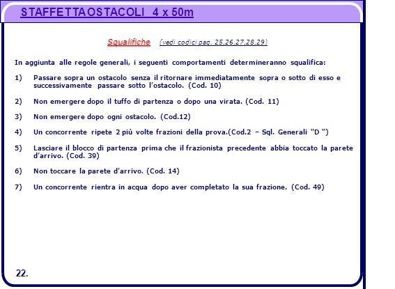 Squalifiche (vedi codici pag. 25,26,27,28,29)