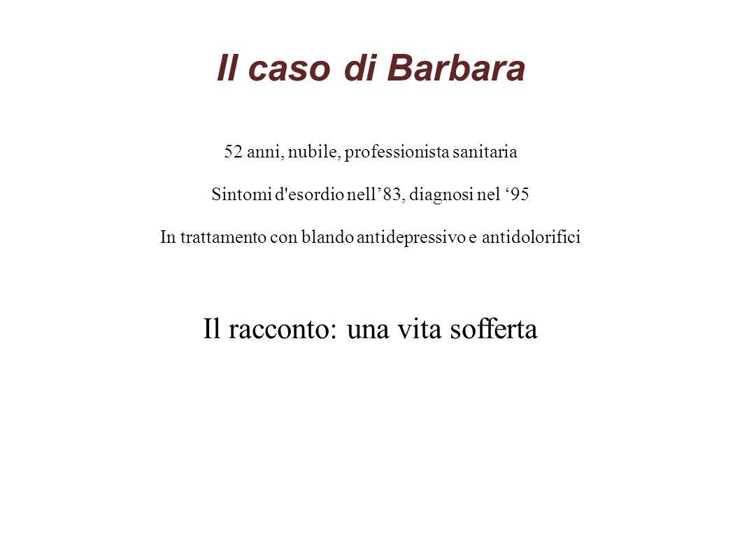 Il caso di Barbara Il racconto: una vita sofferta
