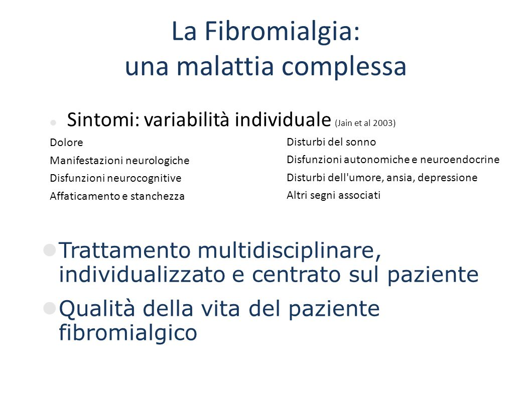 La Fibromialgia: una malattia complessa