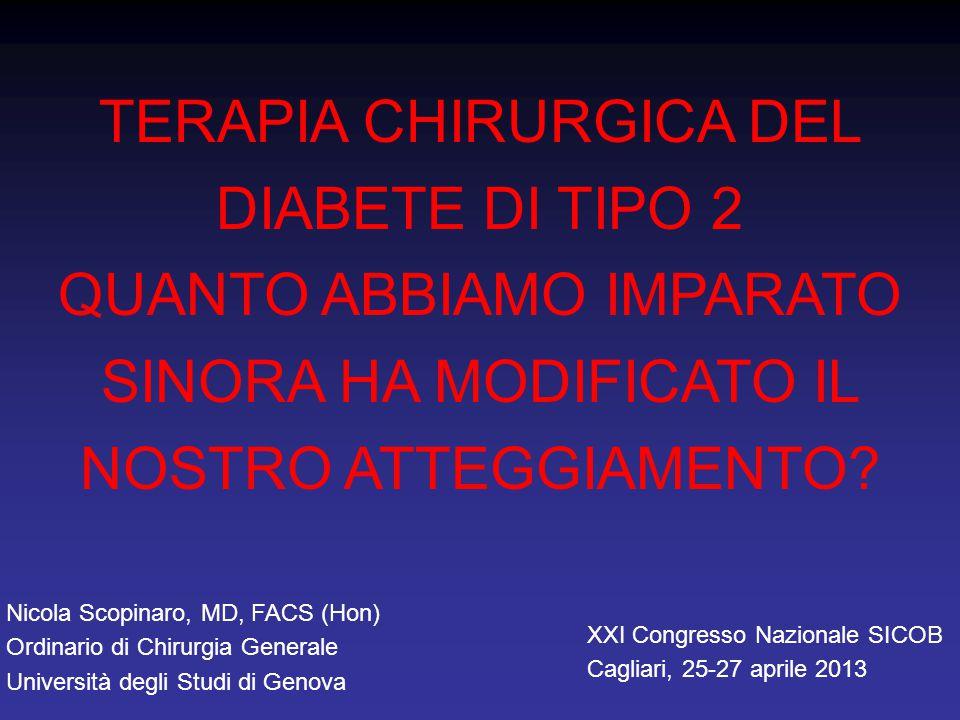 TERAPIA CHIRURGICA DEL DIABETE DI TIPO 2