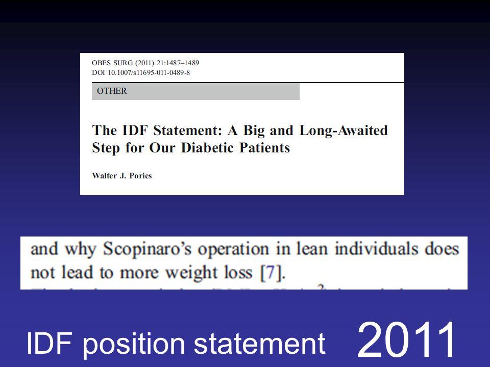 2011 IDF position statement
