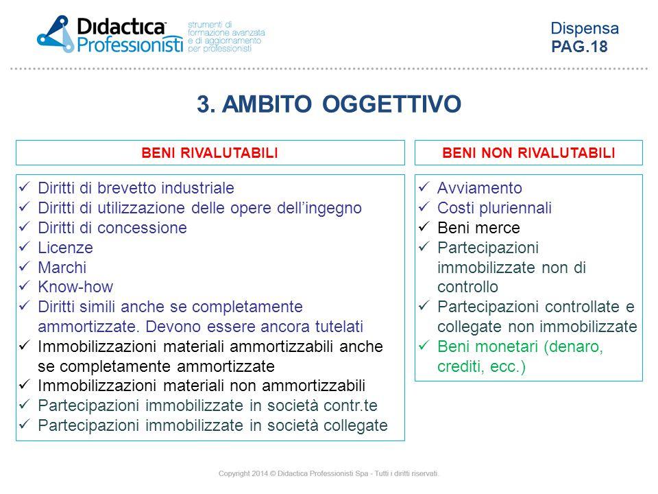 3. AMBITO OGGETTIVO PAG.18 Diritti di brevetto industriale