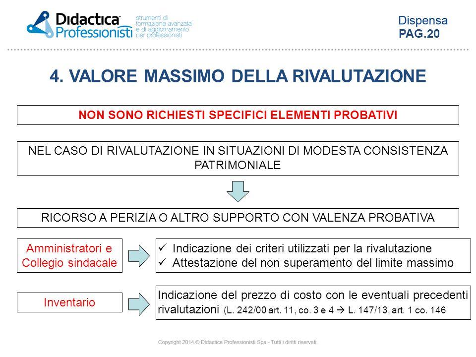 4. VALORE MASSIMO DELLA RIVALUTAZIONE