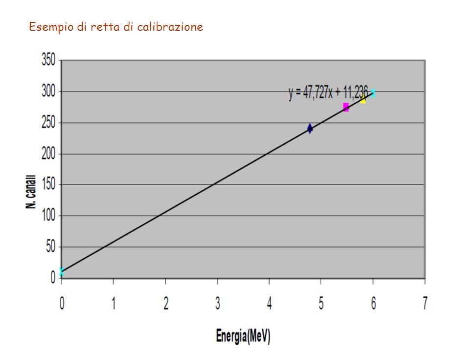Esempio di retta di calibrazione