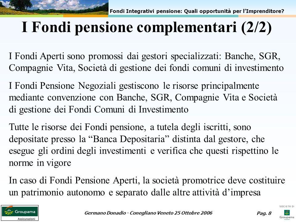 I Fondi pensione complementari (2/2)